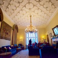 Castle Hotel Ireland, Ballina County Mayo. Belleek Castle drawing room, lounge.